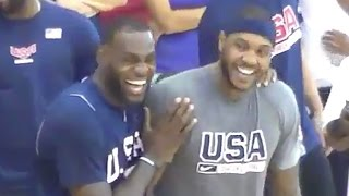 Download LeBron James & Carmelo Anthony Clown Russell Westbrook for Messing Up Simple Drill Video