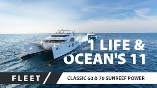 Download Power Catamarans 60 Sunreef Power Ocean`s 11 and 70 Sunreef Power 1 Life together in Cannes Video