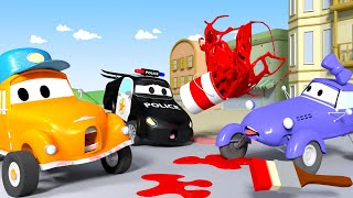 Download What a sticky mess with Katie the Kit Car ! - Tom the Tow Truck's Car Wash | Cars cartoons for kids Video