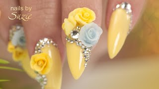 Download Spring Nails 3D Acrylic Flowers - Complete Nail Build Tutorial - Prep to Top Coat Video
