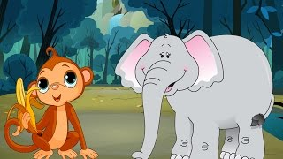 Download Short Stories For Kids - The Royal Elephant | Prince Monkey Video