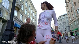 Download FIFA World Cup Fan Signs On Her White Clothes! Video