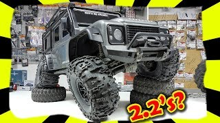 Download Traxxas TRX-4 - Can you fit bigger 2.2 wheels ??? Land Rover Defender d110 Rock Crawler Video