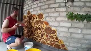 Download Декоративная стенка из больших деревянных спилов (пошагово) Video