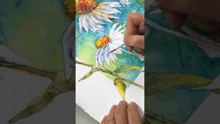 Download Painting Watercolor on Gesso. Turning an ″old dog″ into a new painting. Video