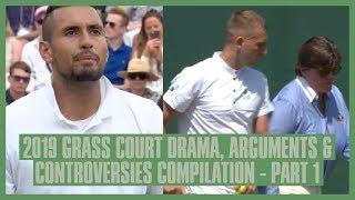 Download Tennis Grass Court Fights & Drama 2019 | Part 1 | Wimbledon, Birmingham, Queens | Kyrgios' Racket Video