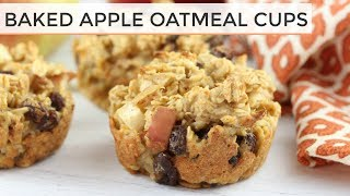 Download Baked Apple Oatmeal Cups | Easy + Healthy Muffins Video