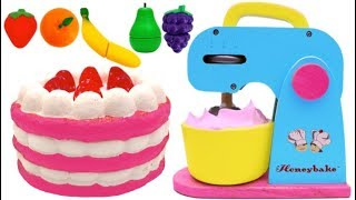 Download Squishy Strawberry Cake Play Doh and Mixer Playset for Children Learn Colors Video