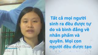 Download Vu Thi Minh Trang, Viet Nam, reading article 1 of the Universal Declaration of Human Rights Video