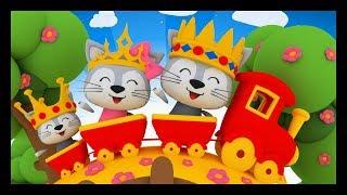 Download Lundi matin, le roi, la reine et le petit prince - Comptines pour les bébés - TITOUNIS Video