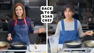Download Ellie Kemper Tries to Keep Up with a Professional Chef | Back-to-Back Chef | Bon Appétit Video