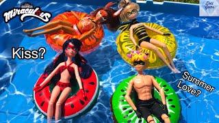Download FLOATIES ! Miraculous Ladybug - Pool Party - Water fun Big float Splash Swim Doll Episode Season 2 Video