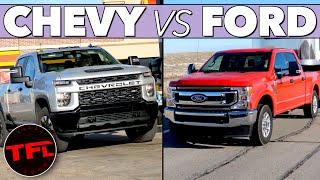 Download Ford vs Chevy MPG Verdict! Here's How the F-250 7.3L V8 Compares to the Silverado V8 Towing & Not! Video