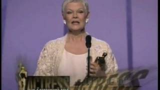 Download Judi Dench winning Best Supporting Actress Video