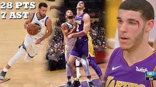 Download Lonzo Ball VS Steph Curry INTENSE OVERTIME THRILLER! Lakers vs Warriors! Video