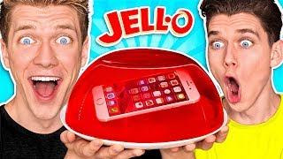 Download 10 FUNNY PRANKS + PRANK WARS!!! **PHONE IN JELLO** Learn How To Make Funny Easy DIY Food & Candy Video