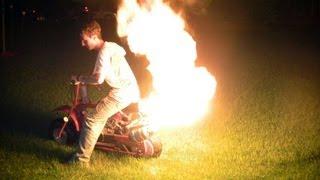 Download Dirt/Doodle Bug Mini Bike Custom Flamethrower Exhaust (1080p) Video