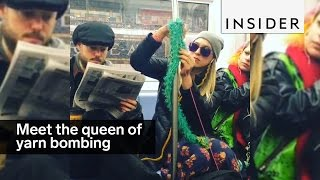 Download Meet the queen of yarn bombing Video