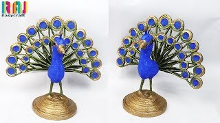 Download Best use of waste newspaper || newspaper peacock making at home || waste material art and craft Video