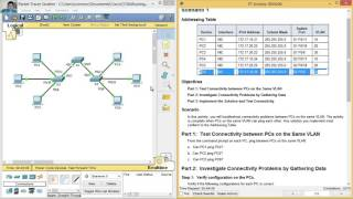 Download 6.2.3.7 - 3.2.4.7 Packet Tracer - Troubleshooting a VLAN Implementation - Scenario 1 Video