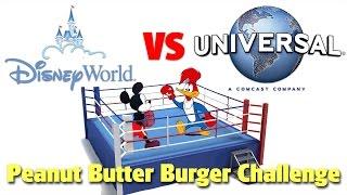 Download Disney VS Universal: Peanut Butter Burger Challenge Video