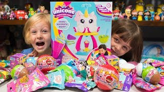 Download HUGE Unicone Unicorn Poop Surprise Eggs Opening Blind Bags Toys for Girls Kinder Playtime Video