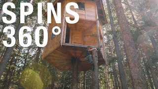 Download Worlds First Rotating Two Story Tree House (How It Was Built) Video
