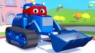 Download Siêu xe Carl và Xe ủi đất ở thành phố xe 🚓 🚚 | Phim hoạt hình về xe dành cho thiếu nhi 🚒 Video