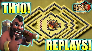 Download TH10 VS TH11 | GUESS WHAT ″JUST 1 STAR THEY GET | TH10 WAR BASE WITH REPLAYS Video