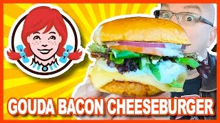 Download Wendy's Gouda Bacon Cheeseburger & Fondue Fries Review Video