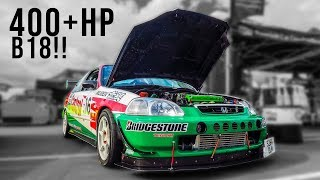 Download TAKING OUT A 400HP CIVIC B18 EVO TURBO! Video
