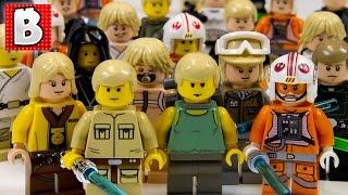 Download Every Lego Luke Skywalker Ever!!! + Rare Cloud City Luke & Dagobah Luke   Lego Collection Video