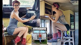 Download DIY lover spends £3,000 transforming her 1978 Dodge camper van into the perfect home | Tiny House Video