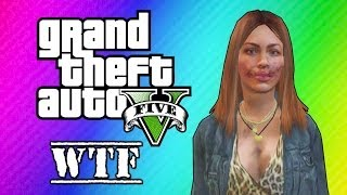 Download GTA 5 Online: Super Glitchy Lobby - Invincible Lady & Teleportation (GTA 5 Funny Moments) Video