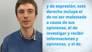 Download Antonio Gimeno Rodriguez, Spain, reading article 19 of the UDHR Video