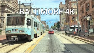 Download Driving Downtown - Baltimore 4K - USA Video