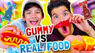 Download GUMMY vs. REAL FOOD! ft My Little Brother Video