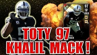 Download GOT TOTY 97 KHALIL MACK & HES A GOON! (50K WAGER) - MADDEN NFL 17 ULTIMATE TEAM Video