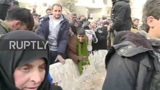 Download Syria: Liberated Aleppo residents receive aid from Russian Reconciliation Centre Video