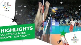 Download Highlights Day 11 I Volleyball Mens Bronze Gold Medal Matches #Napoli2019 Video