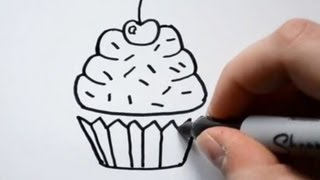 Download How to Draw a Cartoon Cupcake Video