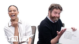 Download Zach Galifianakis & Zoe Saldana Answer the Web's Most Searched Questions | WIRED Video