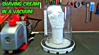 Download What Will Happen if You Put Shaving Cream in a Vacuum? Video