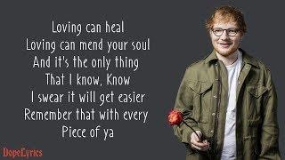 Download Photograph - Ed Sheeran (Lyrics) Video