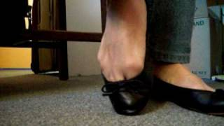 Download low cut black ballet flats 2010 001.MOV Video