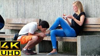 Download Prank! Kissing girls feet (how to pick up girls) Video