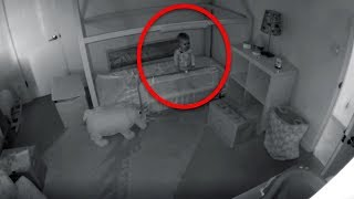Download Mom Is Worried How Baby Keeps Disappearing From Crib, So She Installs A Security Camera To Find Out Video
