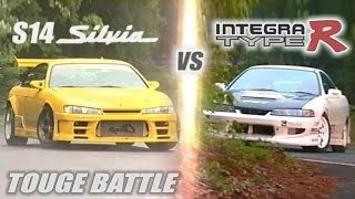 Download [ENG CC] ″Circuit Club″ Integra R vs. ″Champ″ S14 Silvia Touge Battle HV57 Video