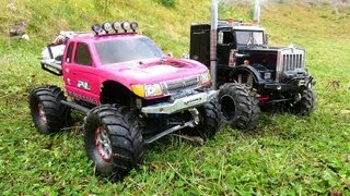 Download RC ADVENTURES - VERY Pregnant JEM 4x4's for YouTube! ″PiNKY & OVERKiLL″ Scale RC Trucks Video