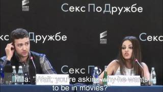 Download Mila Kunis Smacks Down A Reporter In Russian - with Sub Titles Video